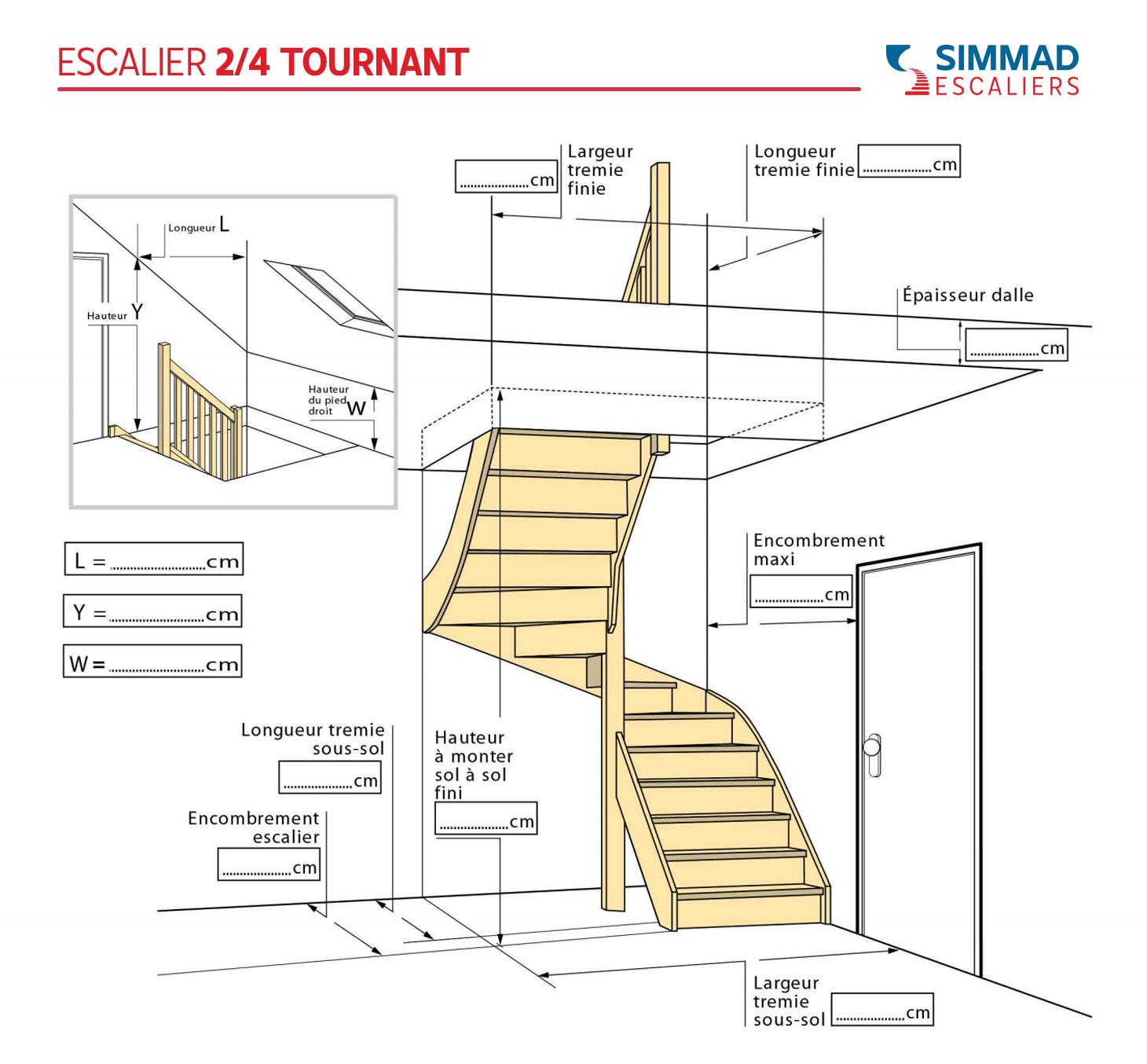 Notice de prise des côtes d'escalier